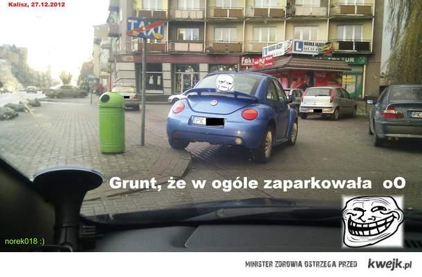 Karniak za złe parkowanie...