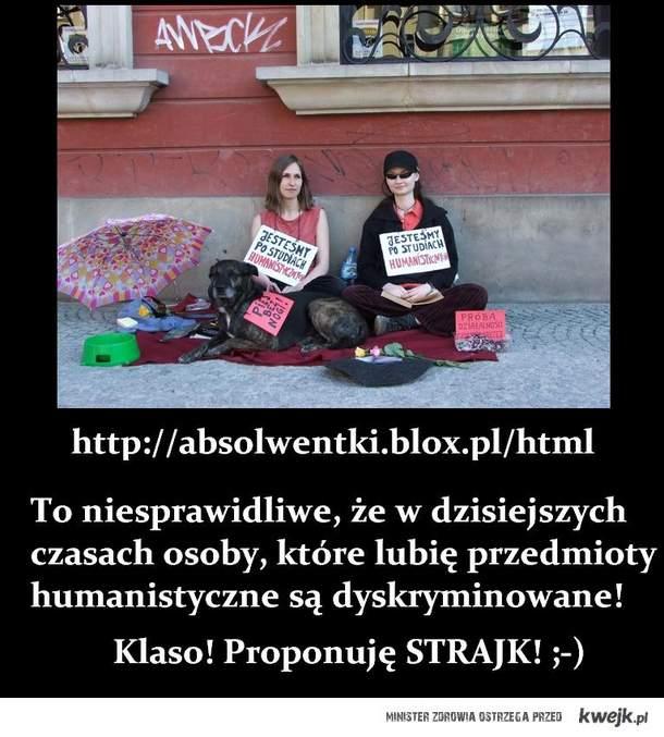 Strajkujemy,pracę dla humanistów chcemy!