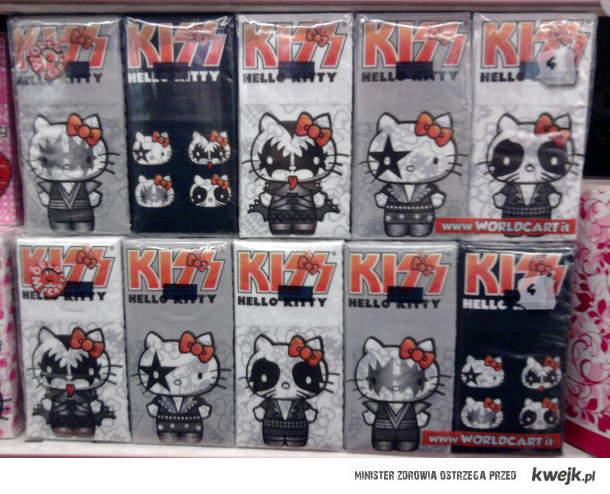 Chusteczki higieniczne - Kiss & Hello Kitty