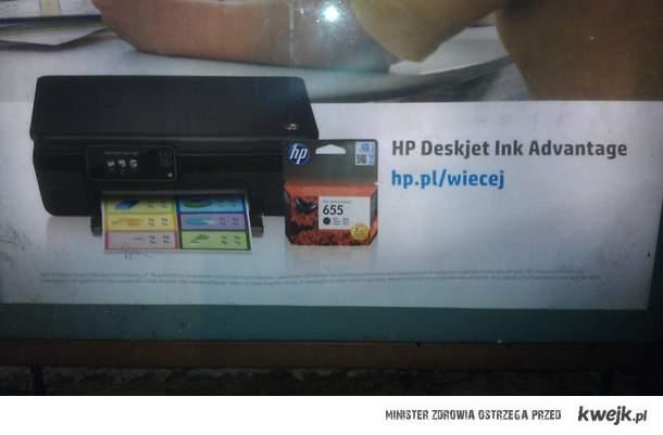 Tylko mistrz marketingu, zareklamuje czarny tusz kolorowym wydrukiem