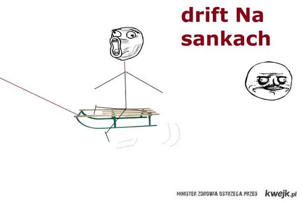 drift na sankach