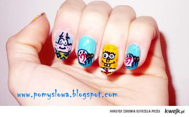 Spongebob (jak) na dłoni
