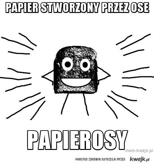 Papier stworzony przez ose