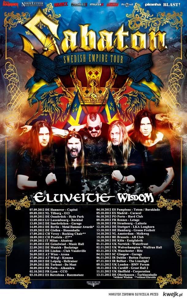 Sabaton Swedish Empire Tour