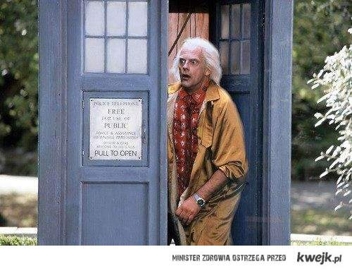Dr Emmett Brown w Tardis