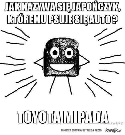 jak nazywa się japończyk, któremu psuje się auto ?