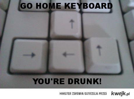 Drunk keyboard
