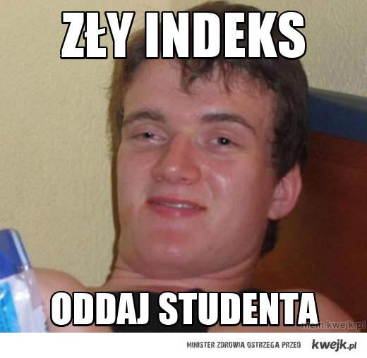 Zły indeks