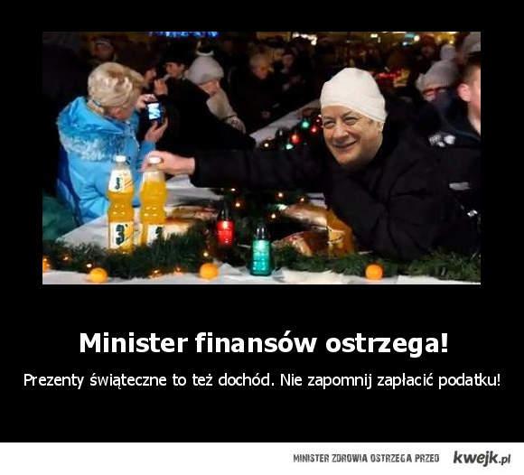 minister finansow ostrzega