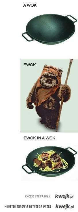 Ewok in a wok!
