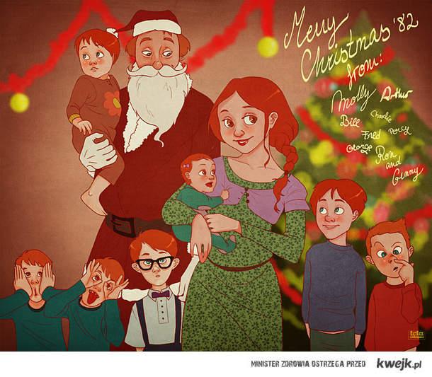 Wesołuch Świąt życzą Weasleyowie
