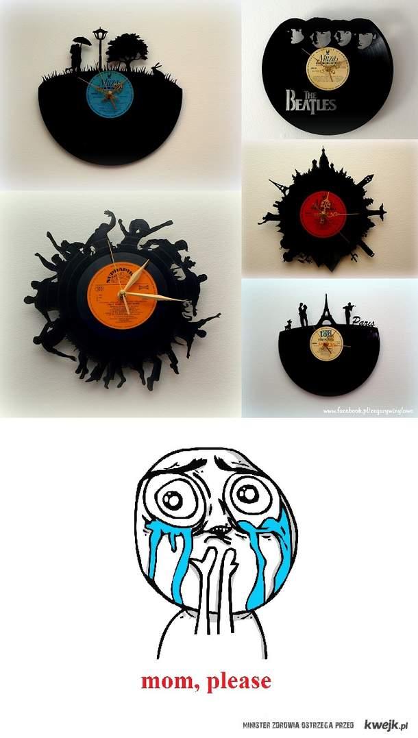 Zegar z winylu. Chcę taki!