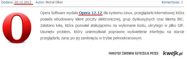Koniec świata - Opera Software