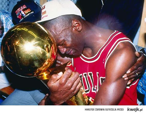 Michael Jordan first trophy