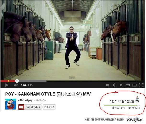 Gangnam style - miliard wyświetleń