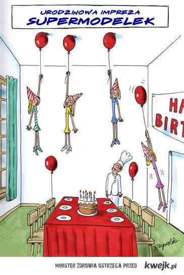 urodzinowa imprezka supermodelek