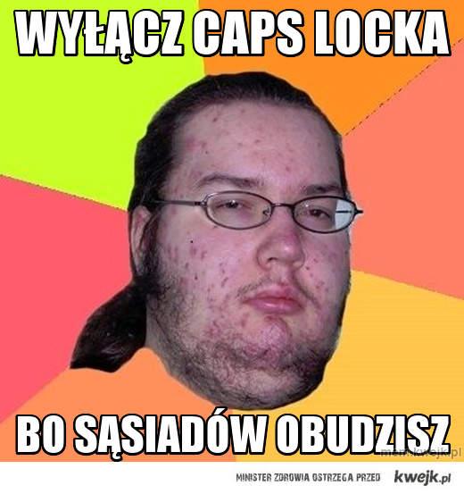 Wyłącz caps LOcka