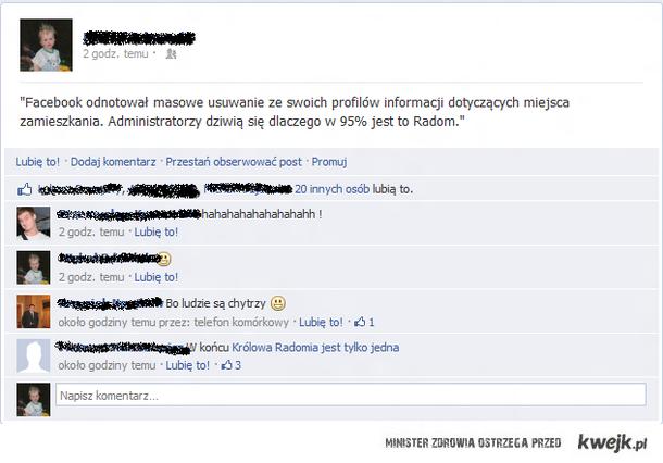 Dziwne zachowanie użytkowników facebooka.