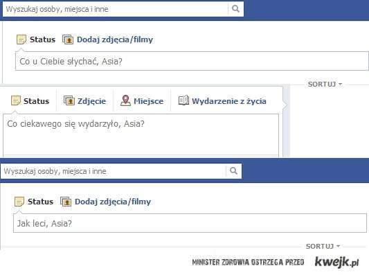 """Facebook, """"jedyny"""" który interesuje się moim samopoczuciem..."""