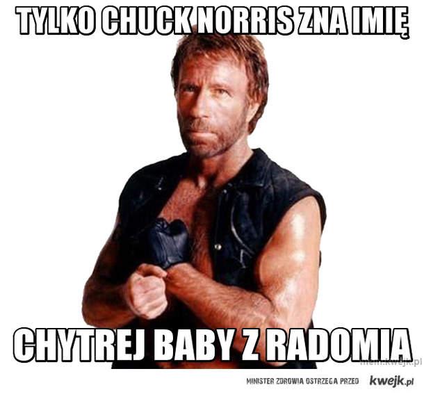 tylko chuck norris zna imię