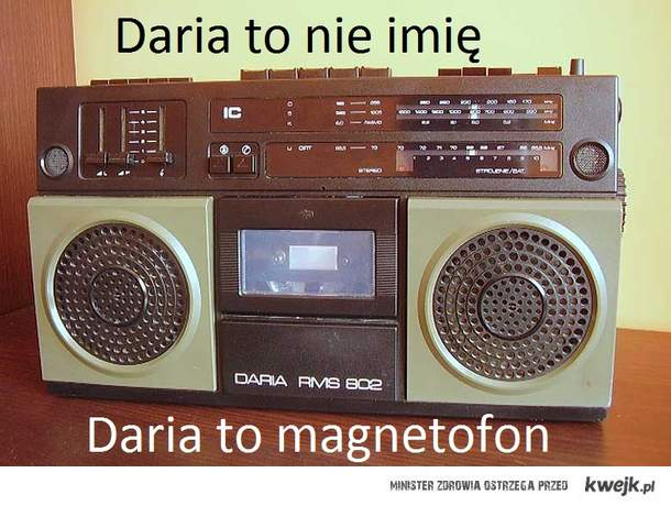 Daria to nie imię