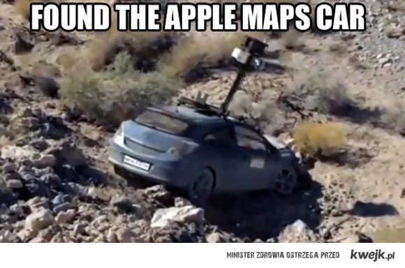 Samochód Apple Maps