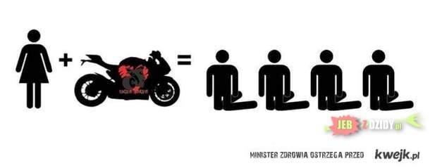 Laska i motocykle
