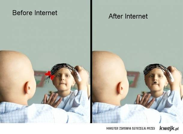 wpływ internetu