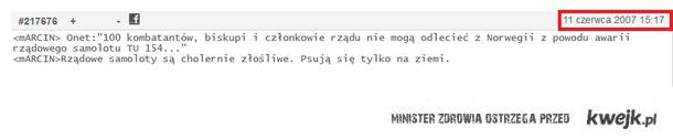 Smoleńska przepowiednia ;)