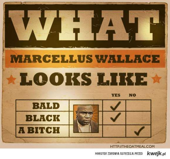 What does Marcellus Wallace look like?