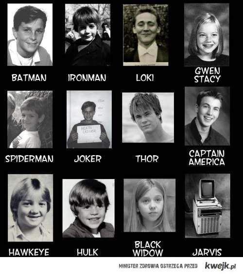bohaterowie w młodości