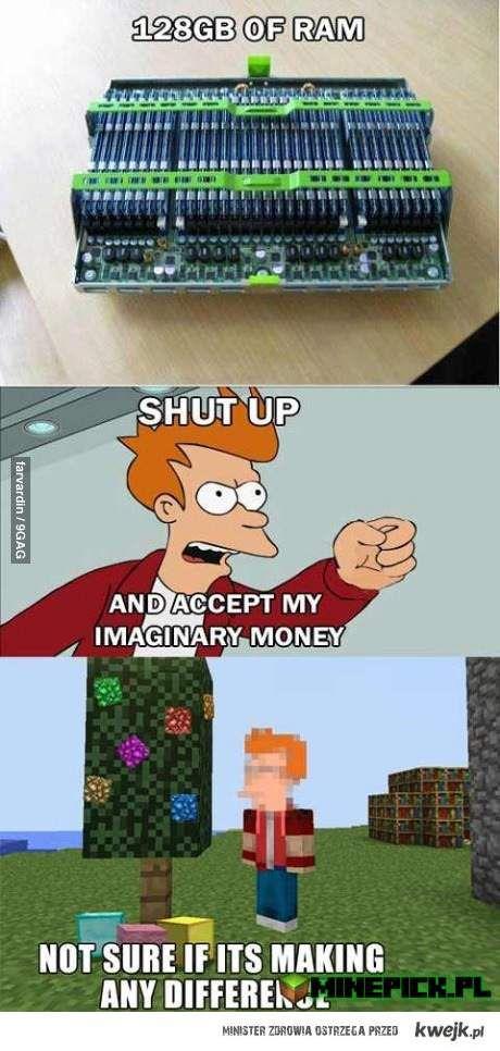 128GB ramu i Minecraft