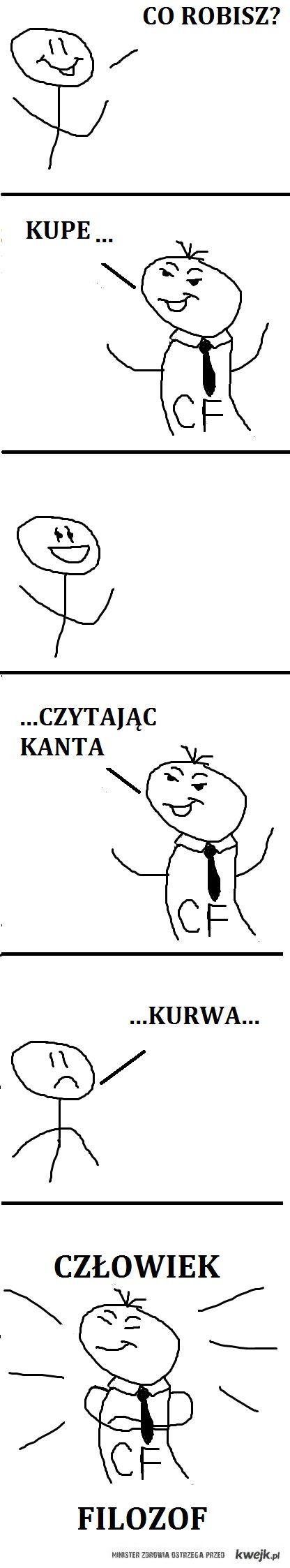 Człowiek Filozof, Kant i kupa