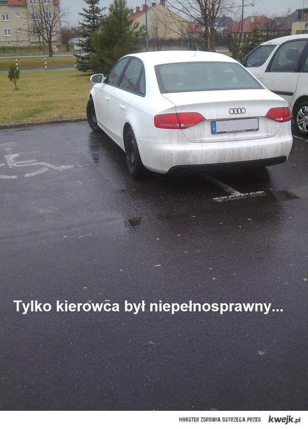 Tylko kierowca był niepełnosprawny...