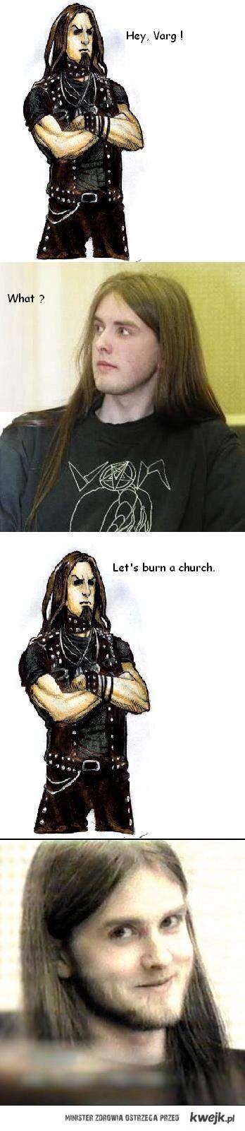 Varg, spalmy kościół.