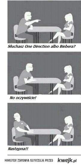 Słuchasz One Direction albo Biebera?