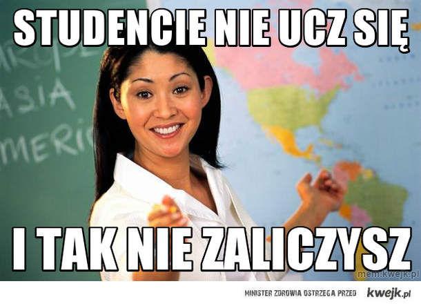 Studencie nie ucz się