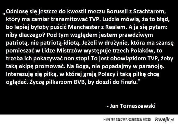 Tomaszewski o meczu BVB