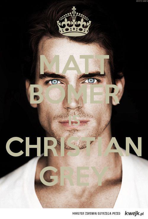Matt Bomer for Christian Grey! <3