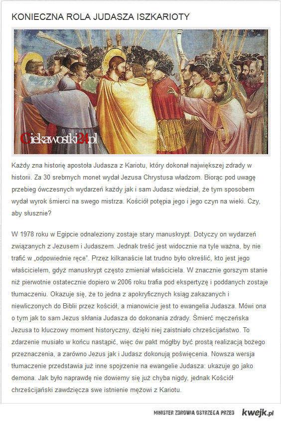 Konieczna rola Judasza Iszkarioty