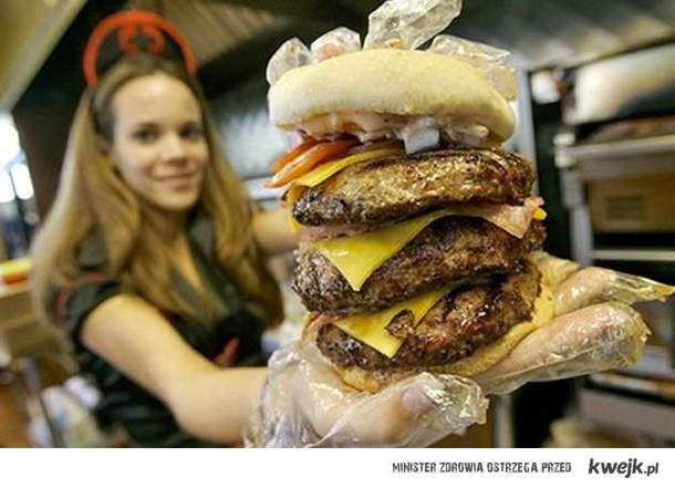 prawdziwy hamburger