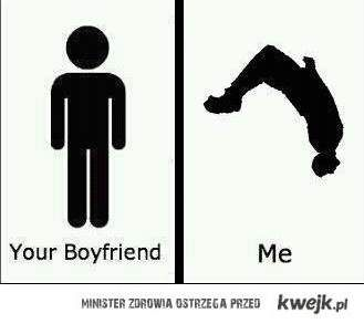 your boyfriend vs. me