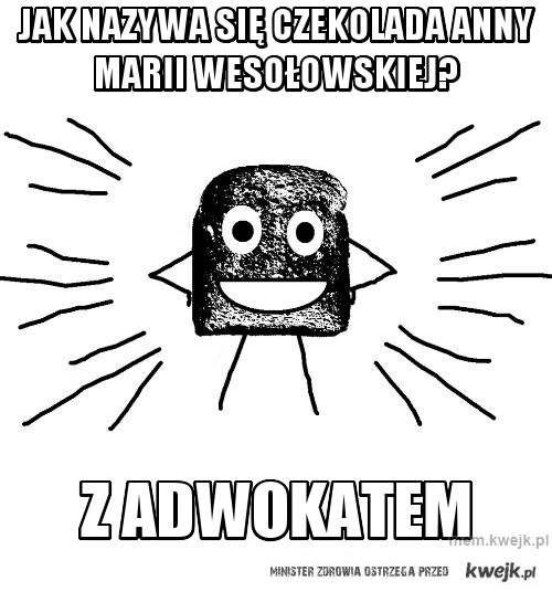 jak nazywa się czekolada Anny marii wesołowskiej?