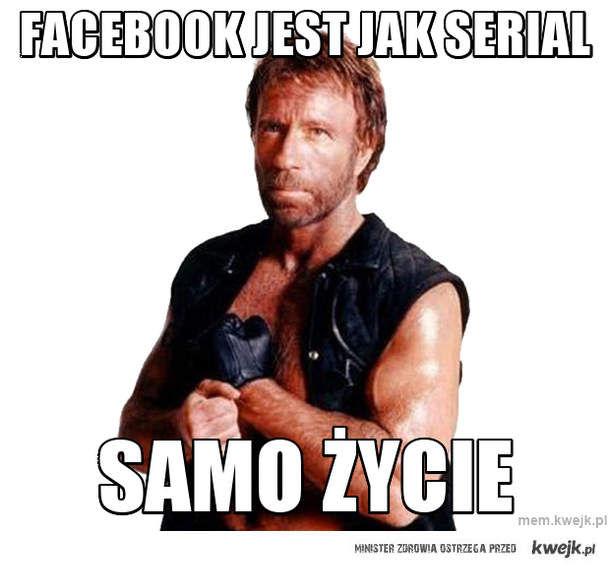 facebook jest jak serial