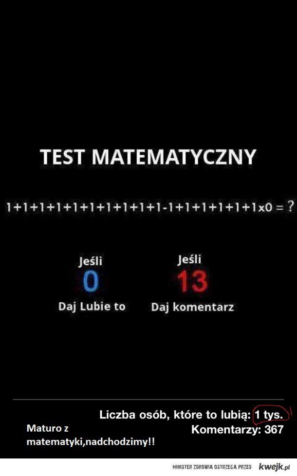 Matematyka to zło!