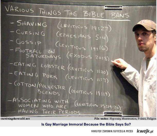 Czego Biblia zabrania