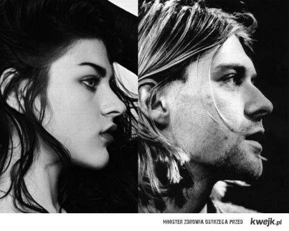 Kurt Cobain i jego córka