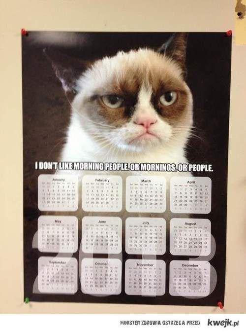 grumpy calendar
