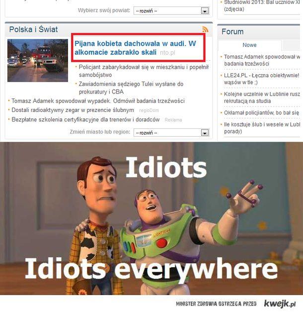 Idioci za kółkiem