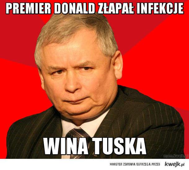 Premier Donald złapał infekcje